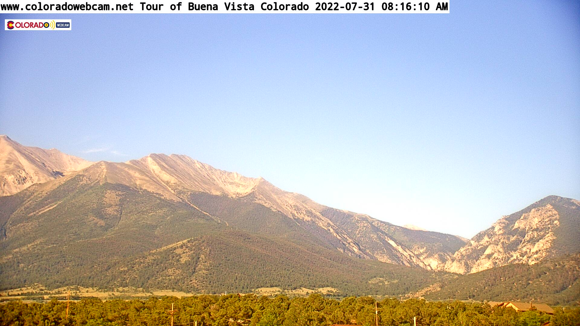 Colorado Web Cam Tour Of Arkansas River Valley From Buena Vista, Colorado