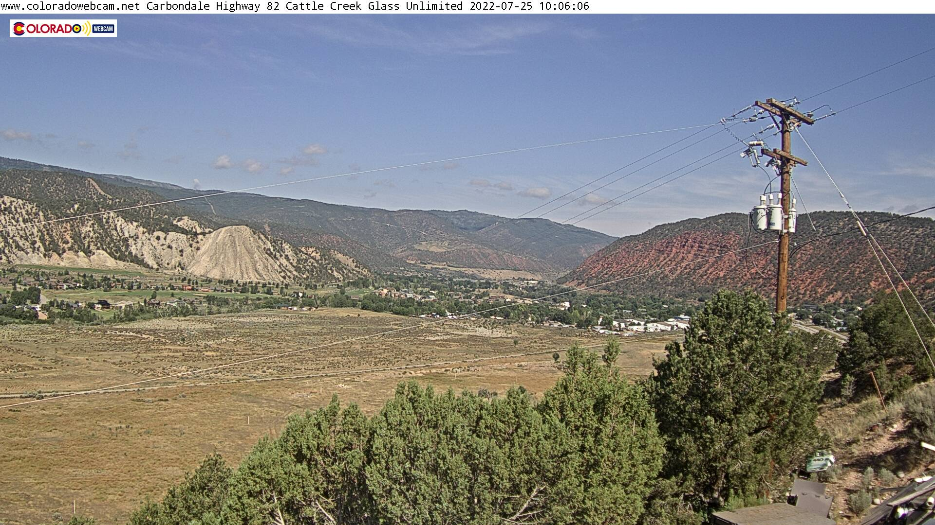HWY 82 Cattle Creek Down Valley Cam