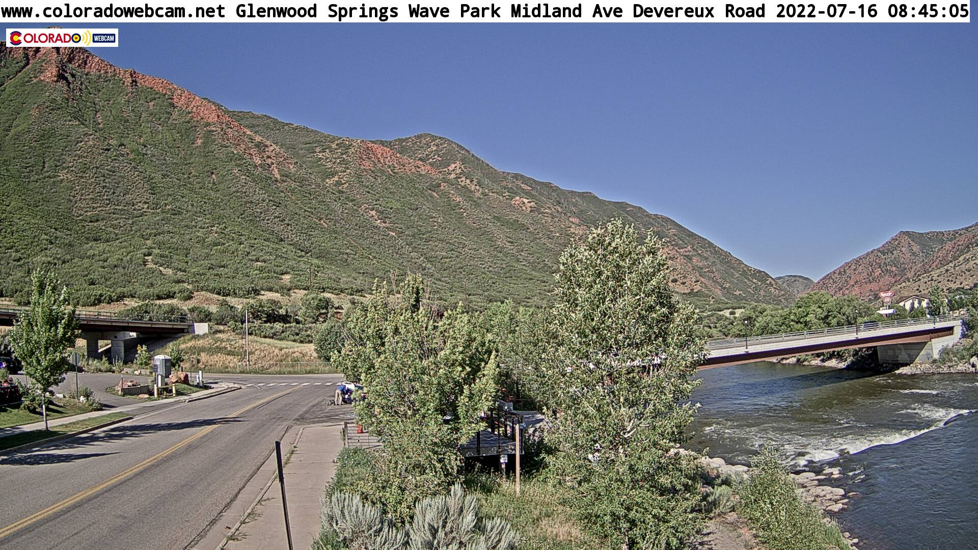 Glenwood Kayak Down River West Cam 1